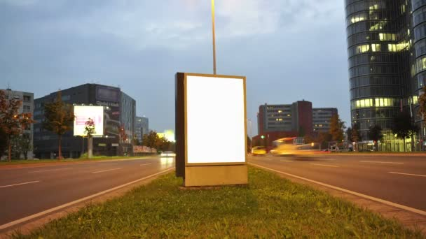 Makieta Plakat światła Miasta Nocą
