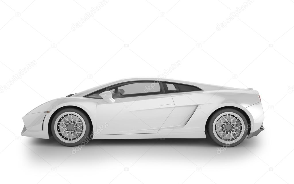 Superb Sport Car Mock Up On White Background, 3D Illustration U2014 Stock Photo