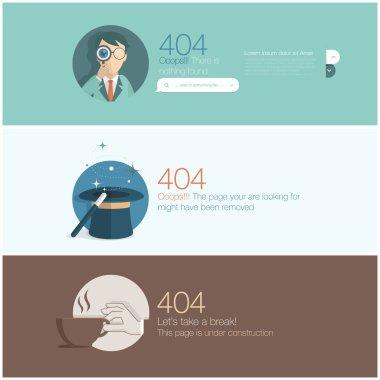 Website design template element: Page not found, 404 error
