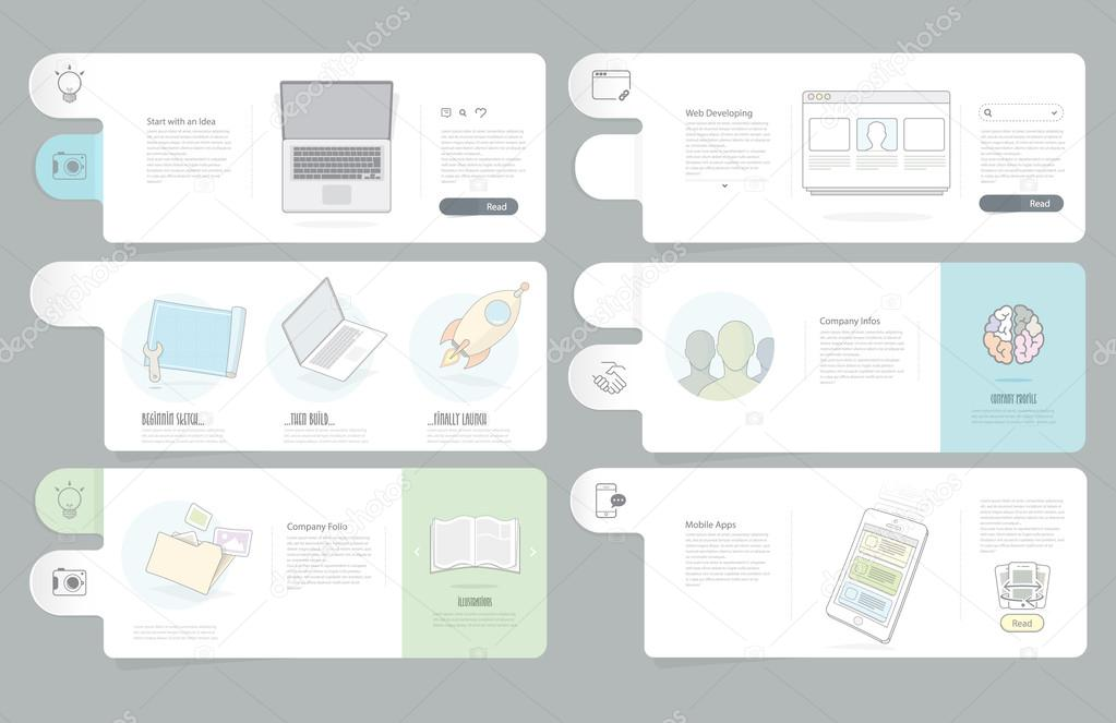 Website templates elements for Business Company