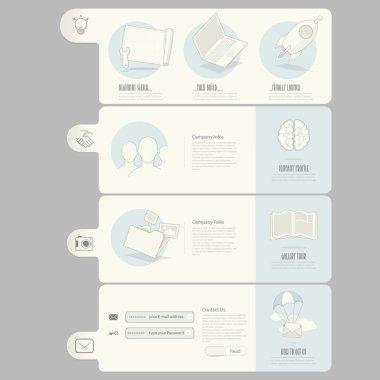Website templates elements for company portfolio