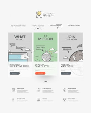 Web site design template navigation elements: website templates
