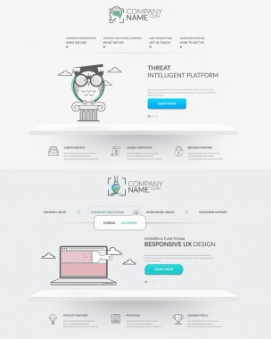 Web site design template navigation elements