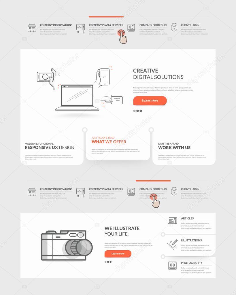 Website-Vorlage-Elemente — Stockvektor © liquidlayout #88571000