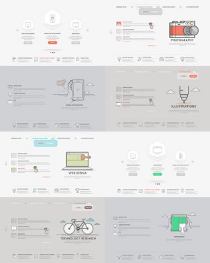 Website template elements collection: