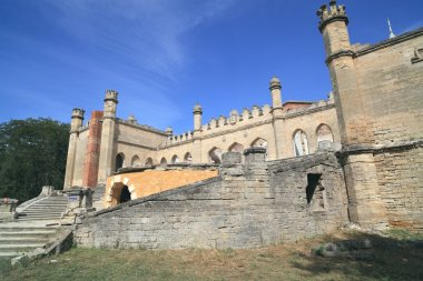 Ruined architectural monument of Romanticism, the palace of the Arab-Gothic architecture Ivan Kuris, construction of in 1820
