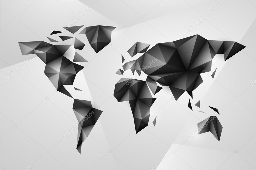 Carte Du Monde Origami.Fond De Carte Du Monde Dans Un Style Origami Image Vectorielle