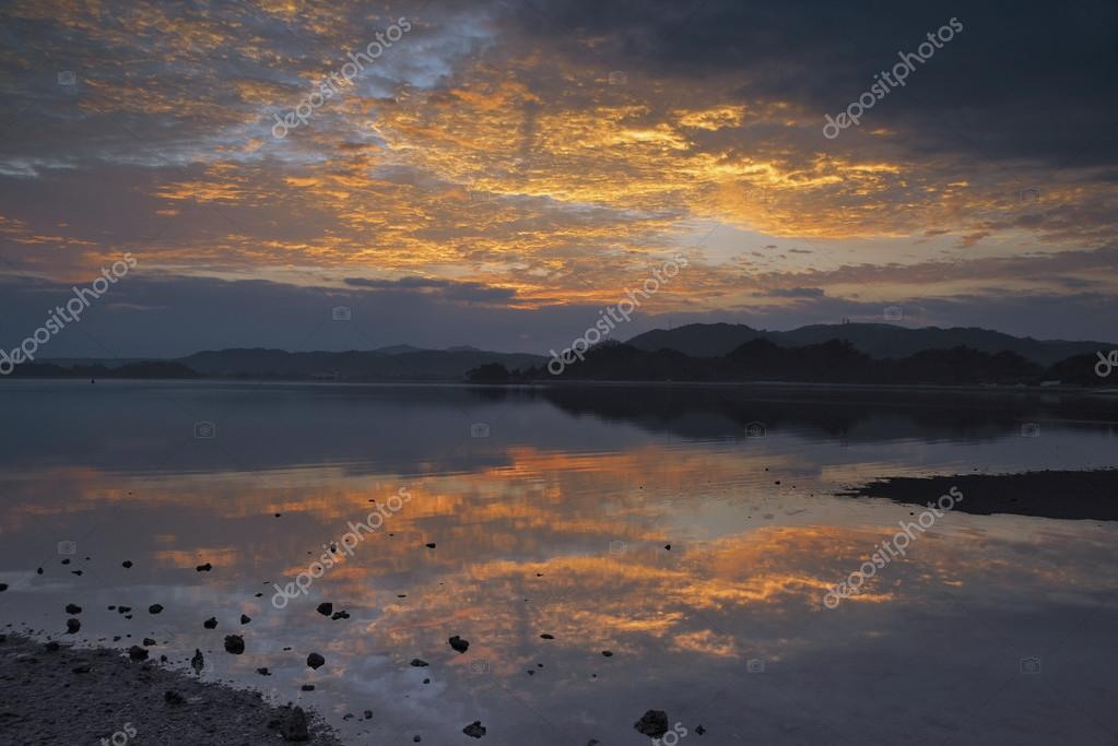 Sea of Nago, Okinawa Prefecture sunrise