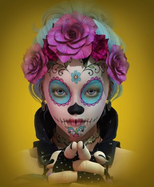 Little Sugar Skull Girl, 3d CG
