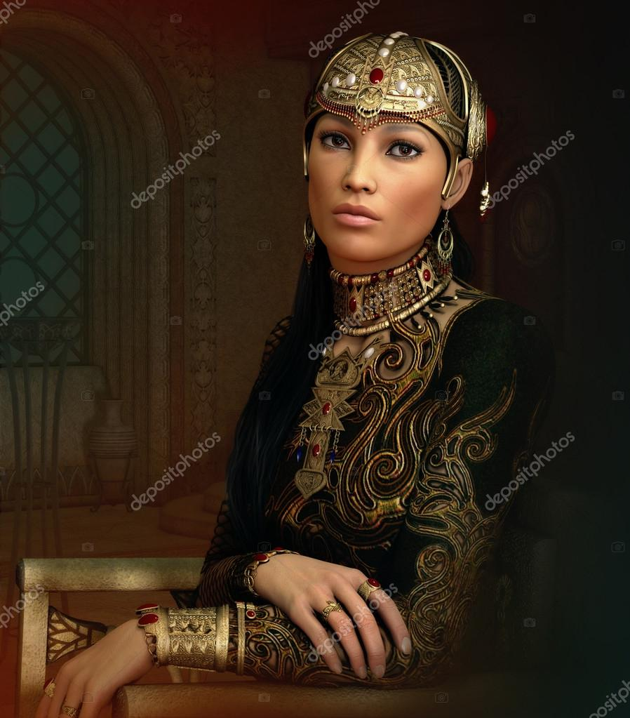 Oriental Princess, 3d CG