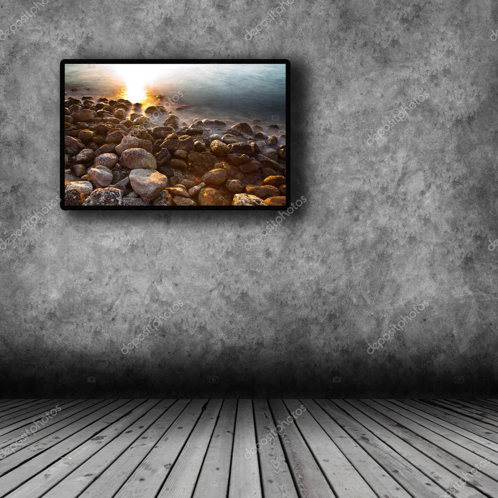 plasma tv sur le mur de la salle — Photographie semisatch © #101718974