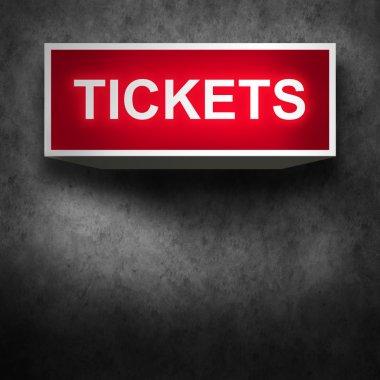 Tickets sales background