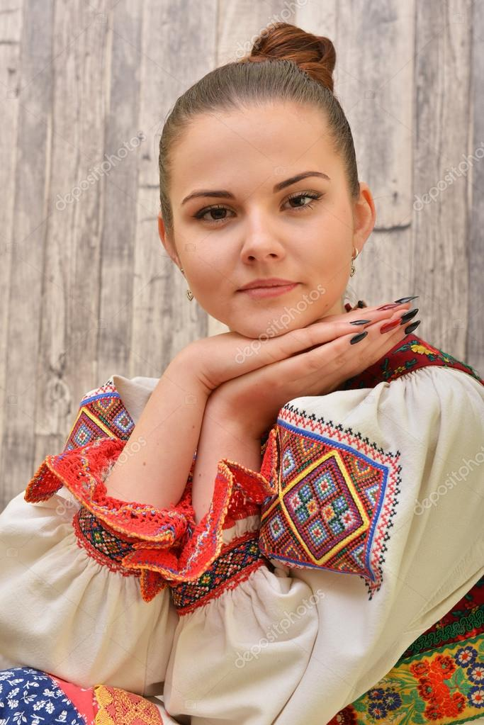 Slovakian folklore costume — Stock Photo © muro #104987904