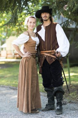 Couple in pirate style