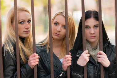Girls behind bars