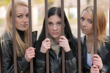 Girls behind bars