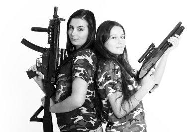 Beautiful women with guns