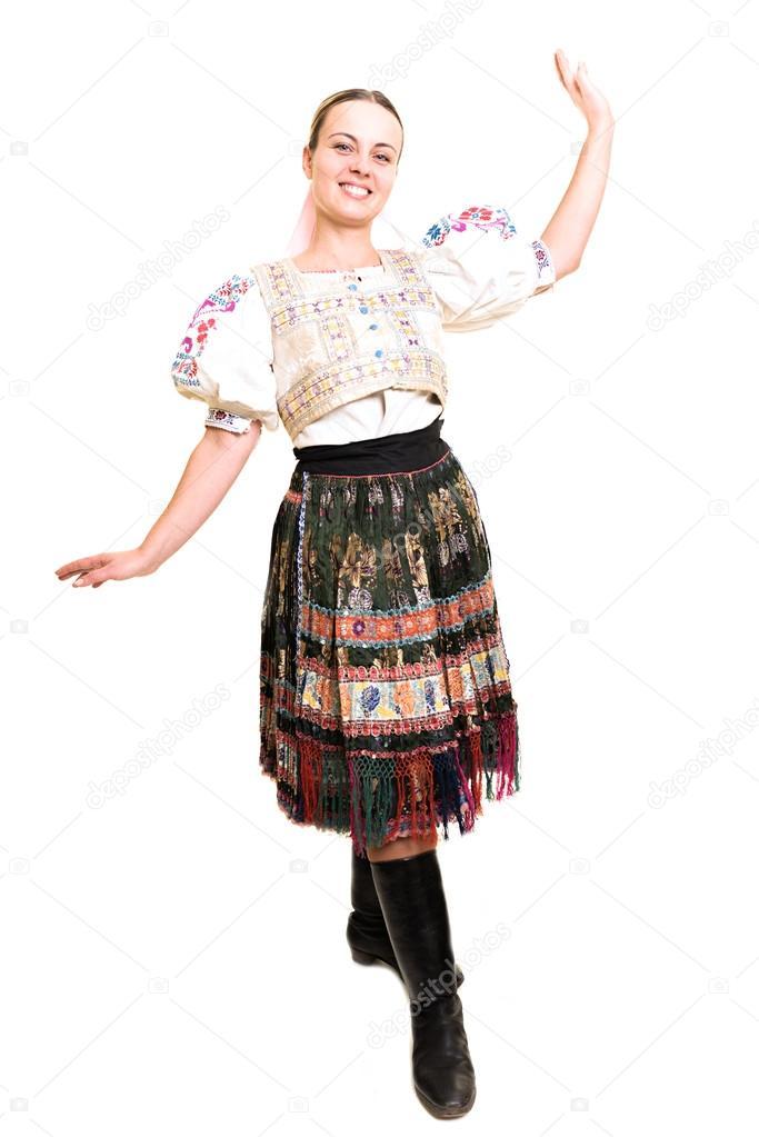 Costume Folklorique femme en costume folklorique slovaque — photographie muro © #63834707