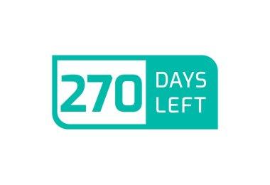 270 Days Left banner on white background, 270 Days Left to Go icon