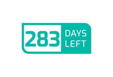 283 Days Left banner on white background, 283 Days Left to Go icon