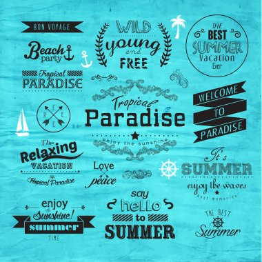 Vintage Typography Summer Holiday Badge Vector Design stock vector