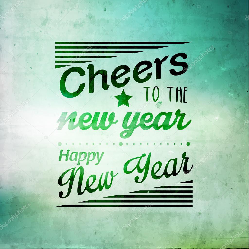 Frohes neues Jahr-Grüße-Vektor-Design — Stockvektor © quinky #57466267