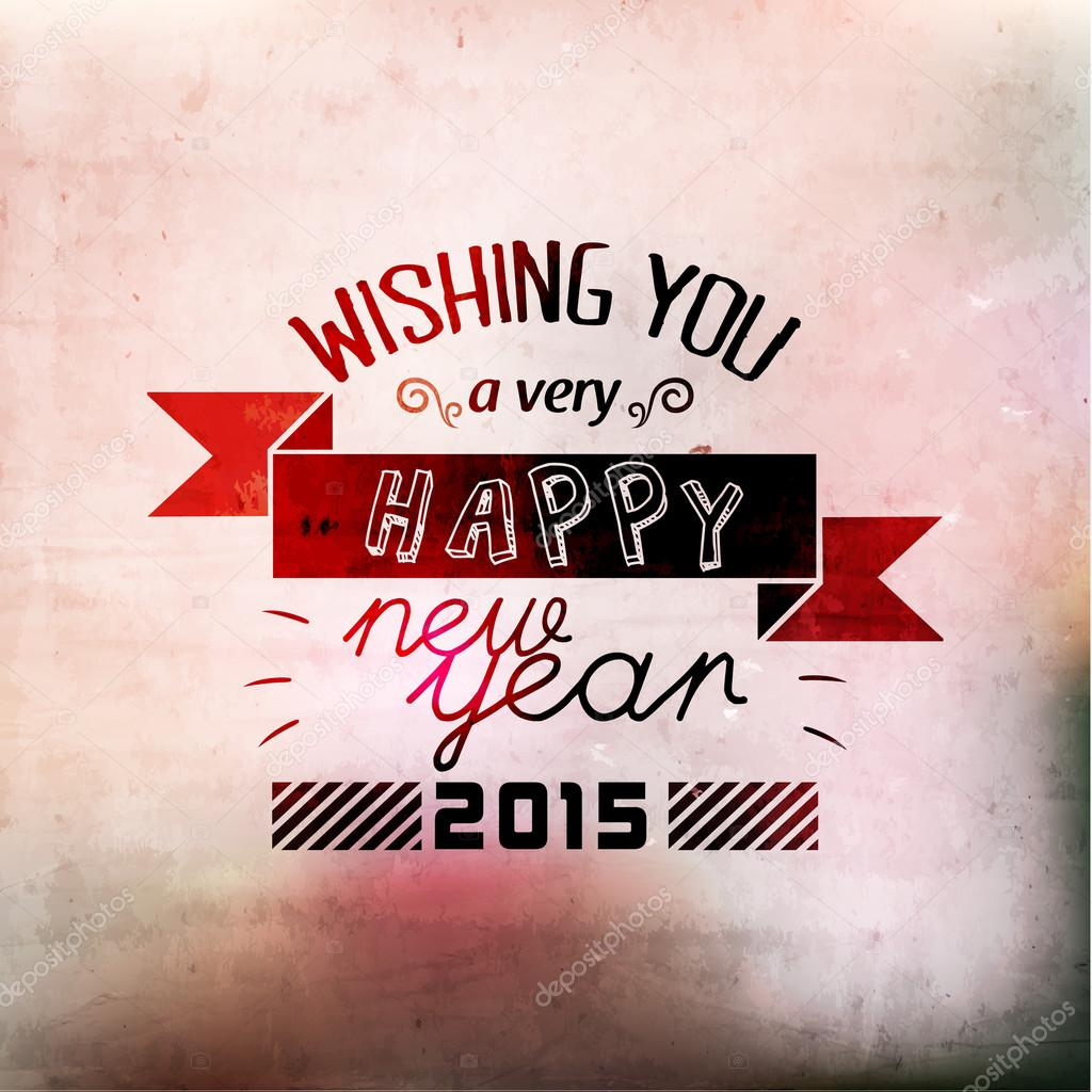 Happy new year greetings vector design stock vector quinky happy new year greetings vector design stock vector kristyandbryce Gallery