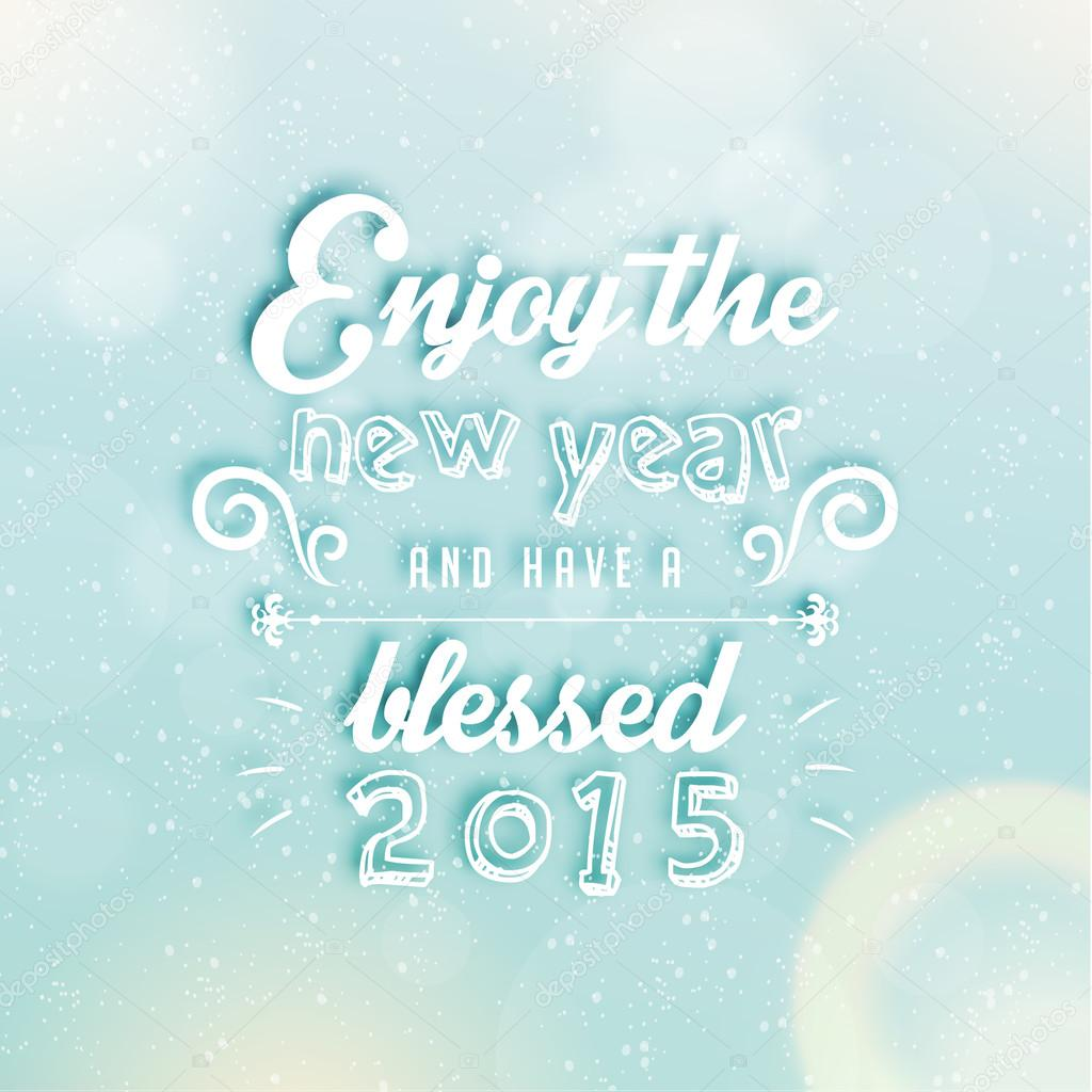 Happy New Year 2015 Season Greetings Stock Vector Quinky 57872295