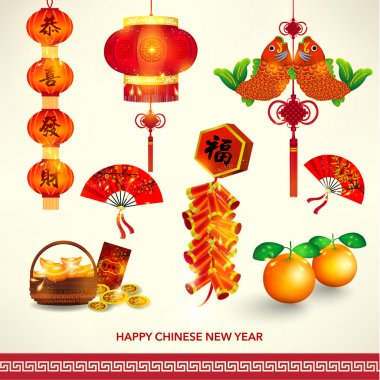 Happy Chinese New Year Decoration Set