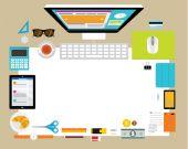 Konstrukční prvky pro obchodní kancelář pracoviště