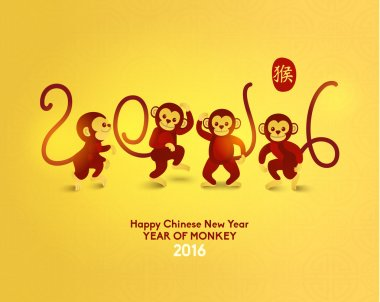 Happy Chinese New Year 2016 Year of Monkey