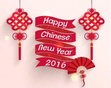Oriental Happy Chinese New Year Vector