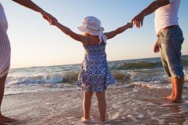 Family on beach vacation