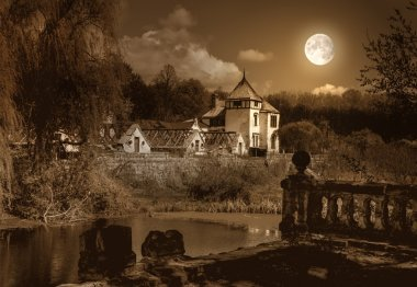Old haunted house and park