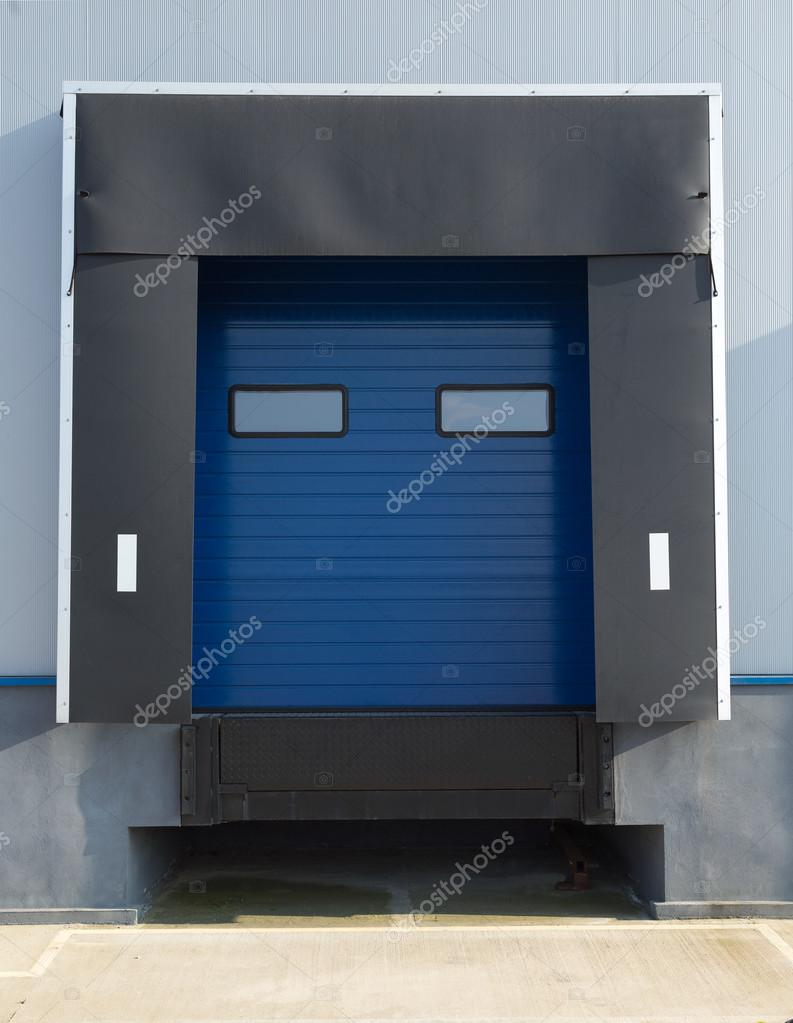 Porta Industrial Azul Stock Photo Conceptw 101364948