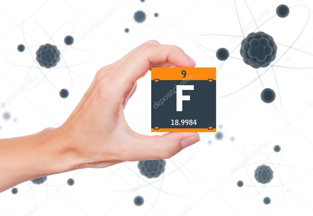 Fluorine Element Symbol Stock Photo Conceptw 108007002