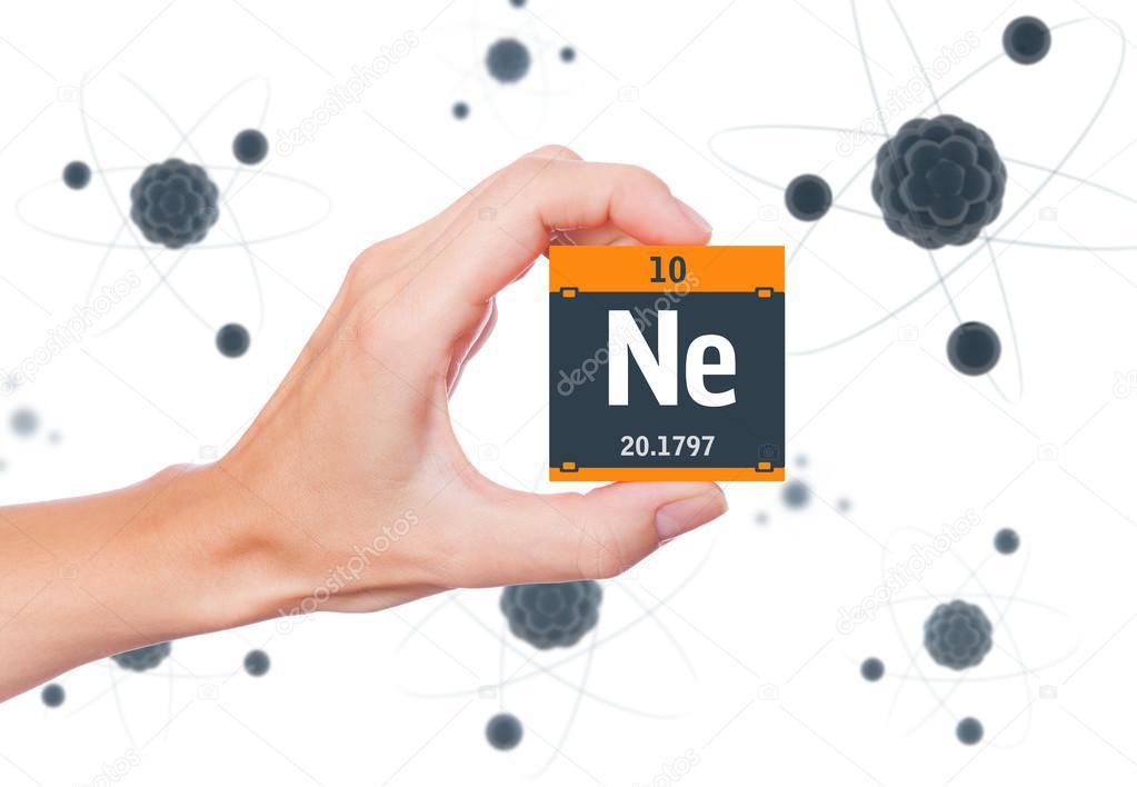 Neon Element Symbol Stock Photo Conceptw 108007016