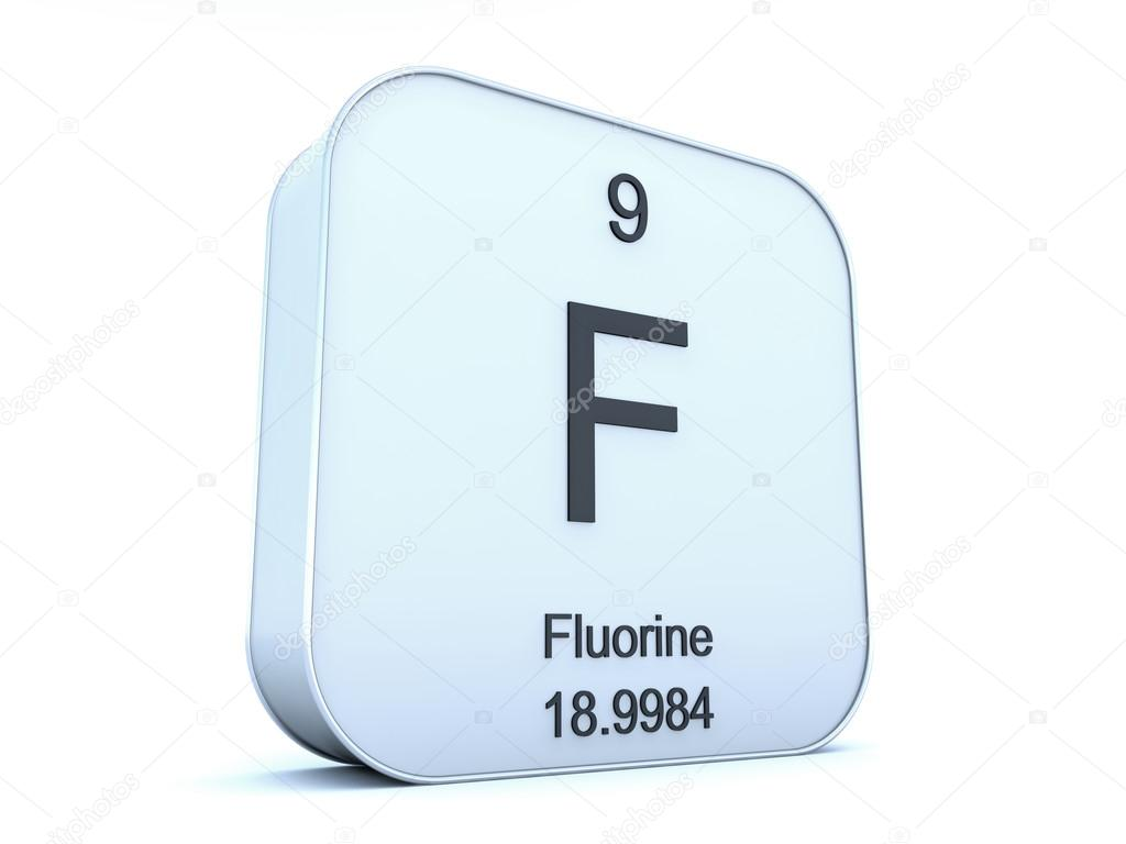 Fluorine On White Square Stock Photo Conceptw 116029780