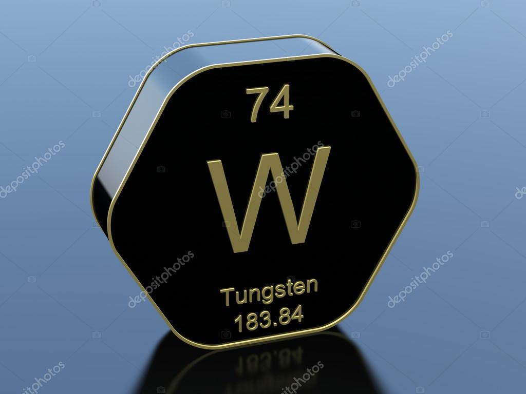Tungsten Element Symbol Stock Photo Conceptw 117545872