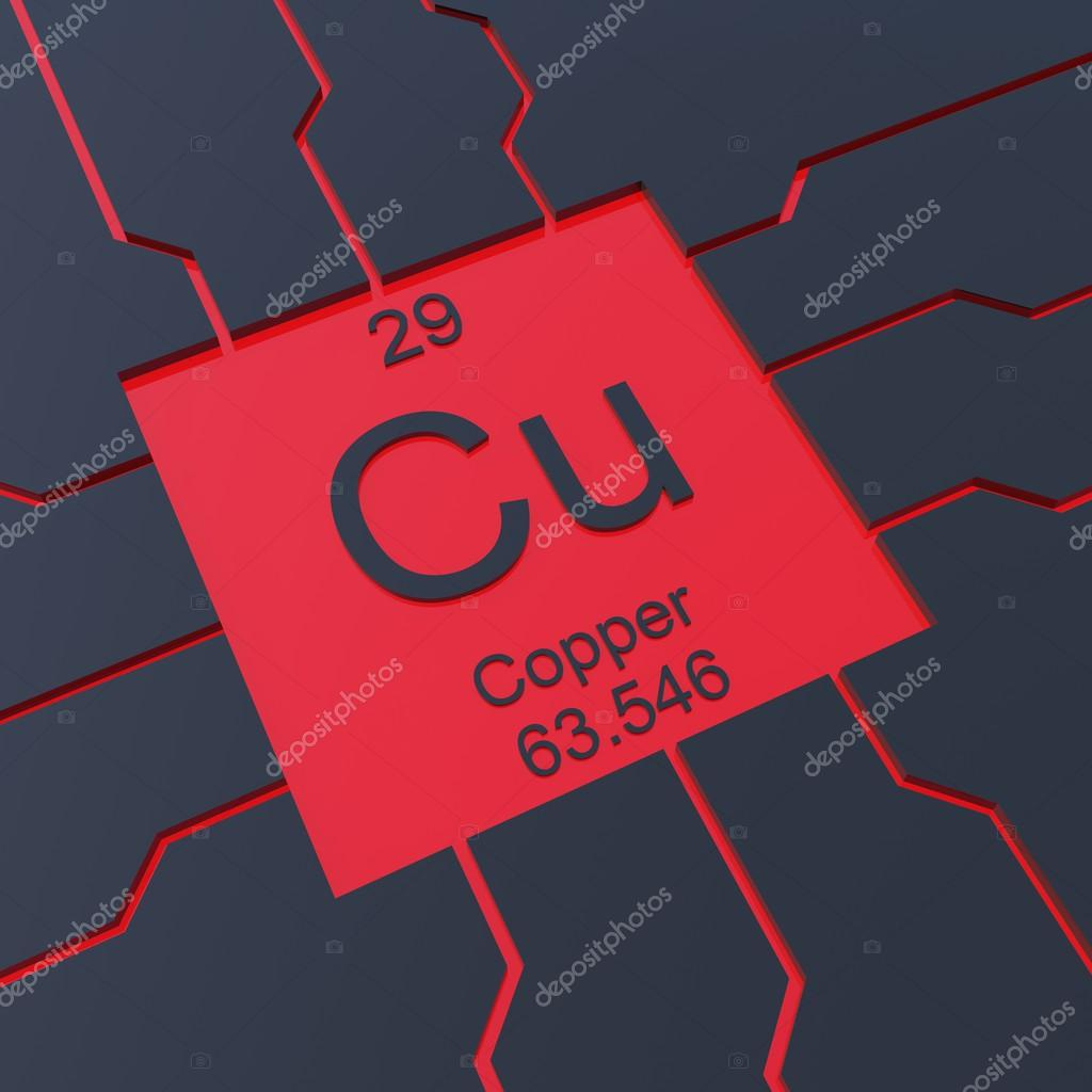 Copper symbol stock photo conceptw 52165637 copper symbol element from the periodic table photo by conceptw buycottarizona Image collections
