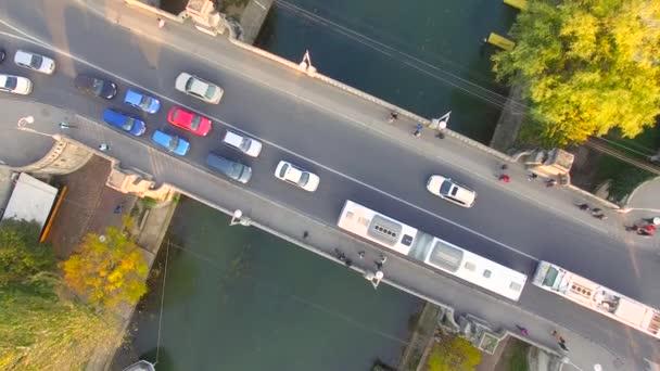 Flight over a bridge