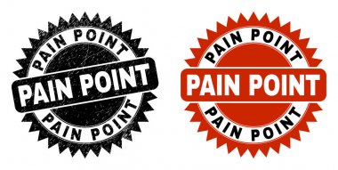 PAIN POINT Black Rosette Watermark with Unclean Surface