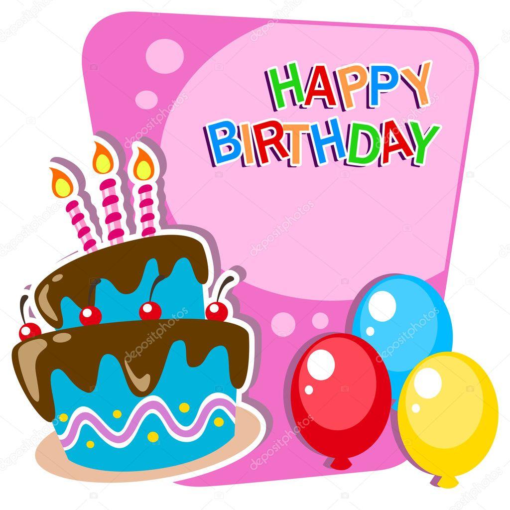 Modelo de cartão de feliz aniversário com bolo em camadas — Vetor de  hackerkuper 3dd62fbc845fe