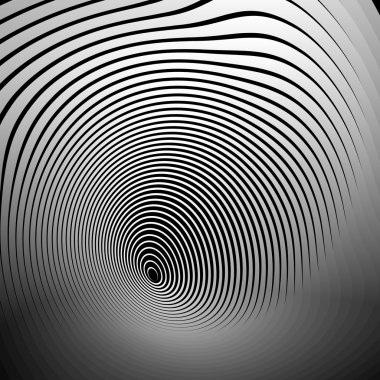 Concentric shapes abstract background