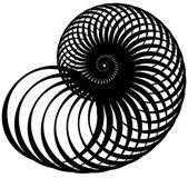 Csiga, helix készült forgó körök
