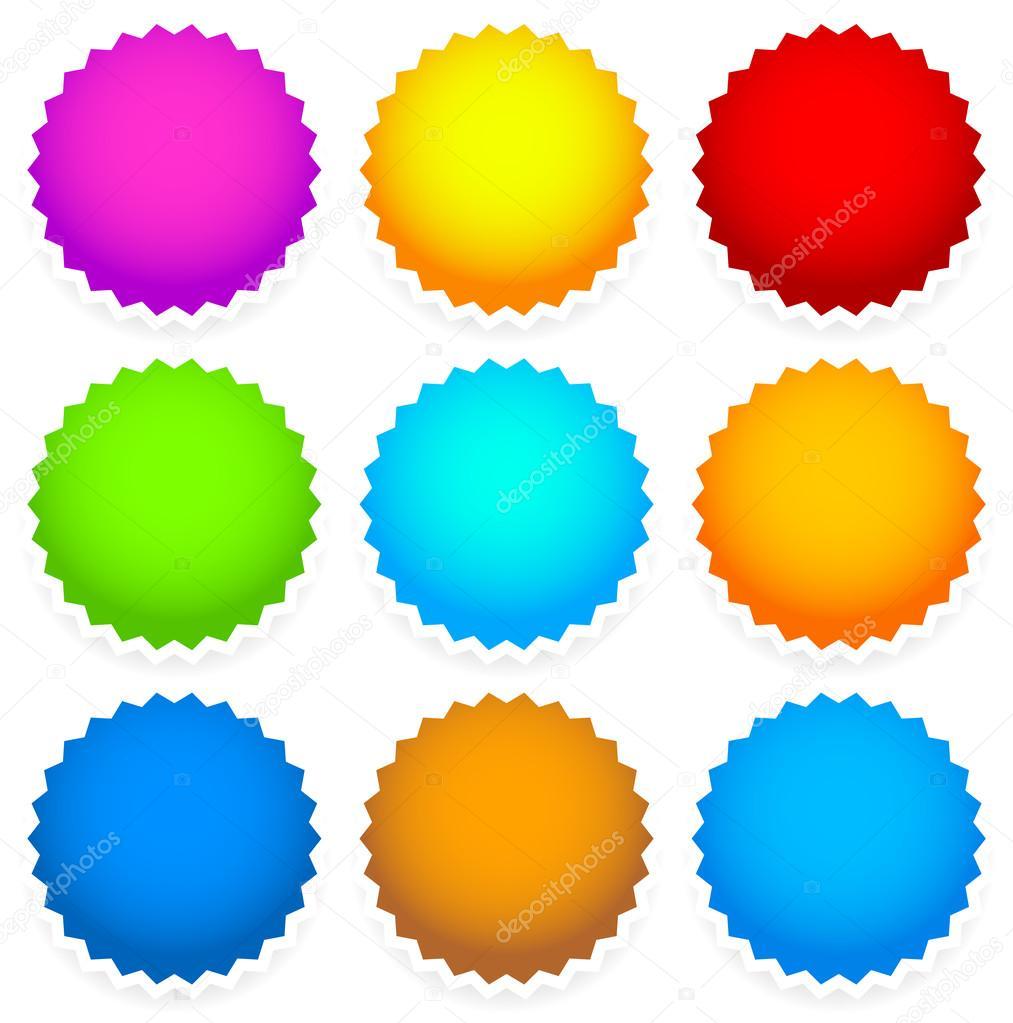 9 helle leere Abzeichen, Stern-shape — Stockvektor © vectorguy ...