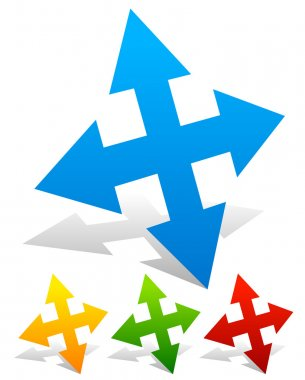 all directions arrows set