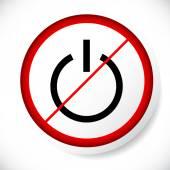 Fotografie Kraft-Symbol und Verbot-Zeichen