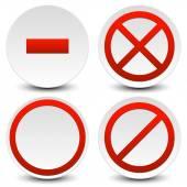 Fotografie No entry, do not cross icons