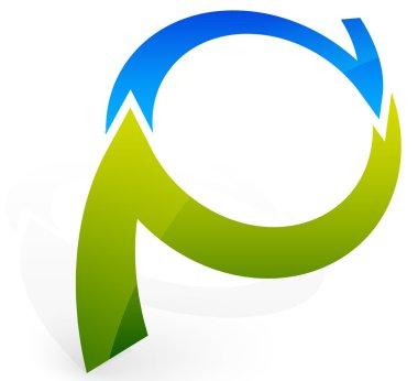 Fresh, bright cyclic arrows symbol